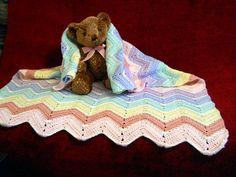 Crochet baby blanket in rainbow colors ripple by CustomBearHugs, $180.00
