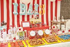 circus themed table