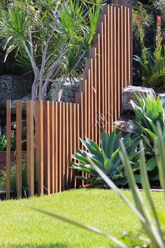 Lone Pine Landscapes are a sydney based Landscaping company who provide landscape design and construction services. Fence Around Pool, Pool Fence, Backyard Fences, Landscape Stairs, Pool Landscape Design, Timber Battens, Timber Fencing, My Pool, Swimming Pools Backyard
