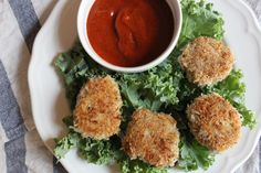 [Leaf Parade. Paleo Chicken Nuggets with BBQ Sauce.]