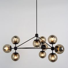 Modo 3 Sided Chandelier - 10 Globes ylighting