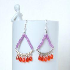 Boucles d'Oreille Fantaisie, Bijou Ado, Boho Chic, Bijou Bohème, Style Hippie, Perles Verre : Boucles d'oreille par bleuluciole