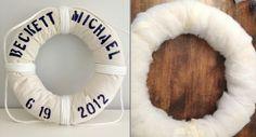 bouée de sauvetage DIY avec une corde marine