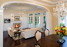Living Room Design. Elegant Living Room Design. #LivingRoom #HomeDecor #Interiors