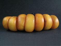 7 Antique Natural Amber Beads Yemen   eBay