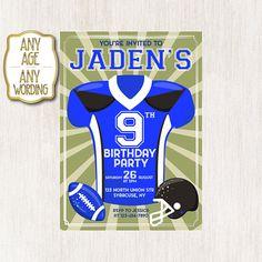 American Football Invitation American Football Birthday Teen Birthday Invitations, Football Invitations, Football Birthday, Youre Invited, American Football, Handmade Gifts, Party, Etsy, Kid Craft Gifts