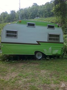 """Spotted in the Flintlock Campground Boone NC"".  Tiny Trailers & Vintage Campers / Caravans <O>"