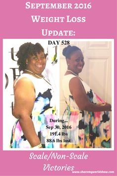"""September 2016 Weight Loss Update - Scale/Non-Scale Victories"" - It's been a minute since I've posted progress about my journey.  I haven't done any LIVE video broadcasts either.  Why?  Because it's been easier to hide and wait out my storm, rather than face it.  I'm experiencing many lows that have made it difficult for me to focus on my journey.  I'm still committed.  But it hasn't been easy.  I have to encourage myself to keep moving forward.  This update forced me to do just that!"