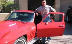 CBS Survivor Host Jeff Probst and his 1966 Corvette Coupe