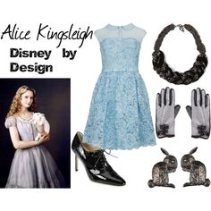 by indeckr (Disney by Design) http://www.polyvore.com/alice_kingsleigh/set?id=76841228 http://waltswardrobe.tumblr.com/tagged/Alice+in+Wonderland