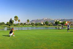 En el corazón del Resort, se encuentra el Club de Golf Oliva Nova, 18 hoyos diseñados y ejecutados por Severiano Ballesteros y su equipo de profesionales. El campo de 18 hoyos más el de 5 hoyos par 3, y el Driving range configuran unas 50 hectáreas de terreno junto a la costa