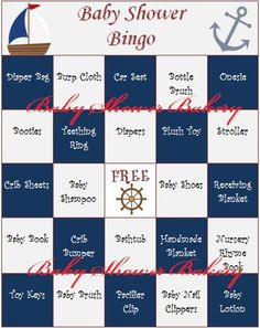 Nautical Baby Shower Game, Nautical Baby Shower Bingo, Nautical Baby Gift Bingo, Printable Nautical Baby Shower Theme, Instant Download on Etsy, $16.17 CAD