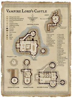 In need of a Vampire's Castle map cartography | Create your own roleplaying game material w/ RPG Bard: www.rpgbard.com | Writing inspiration for Dungeons and Dragons DND D&D Pathfinder PFRPG Warhammer 40k Star Wars Shadowrun Call of Cthulhu Lord of the Rings LoTR + d20 fantasy science fiction scifi horror design | Not Trusty Sword art: click artwork for source