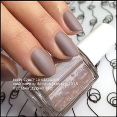 """I want these so bad. Ulta did not have them when I ws there.. Maybe sephora or soon!  """"Essie Comfy in Cashmere"""" Essie••Cashmere Matte Collection•• January 2015"""