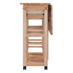 Rolling Wooden Storage Cart Kitchen Trolley with Stools Wood Indoor Outdoor for sale online Pub Table Sets, Dining Room Sets, Table And Chairs, A Table, Beech Kitchen, Kitchen Dining, Extendable Dining Table Set, Breakfast Bar Stools, Small Dining Area