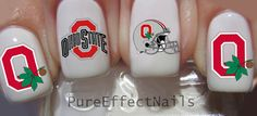 Ohio State Nail Decals by PureEffectNails on Etsy, $4.00