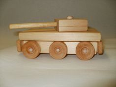 tank  wood toy  pull toy scroll saw by nobatteriesrequired on Etsy, £15.00