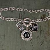 Custom Number 3 Charm Auto Racing Bracelet