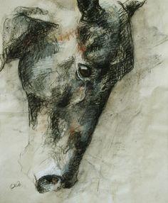 "Benedicte Gele; Pastel, Drawing ""Tête V"""