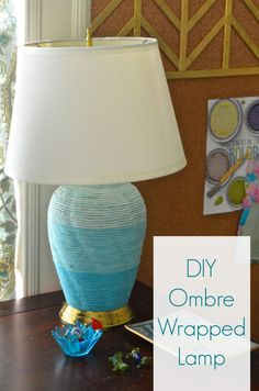 Wrap It Up... Ombre Wrapped Lamp