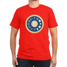 Royal Lion Mens Fitted TShirt Dark International Peace Symbol Religions  Red Small * Read more reviews of the product by visiting the link on the image.