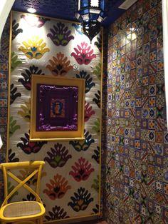 Ocean & Merchant's Tozettos Painting Ceramic Tiles, Mexican Tiles, Hand Painted Ceramics, Wall Tiles, Commercial, Ocean, Spaces, Frame, Handmade