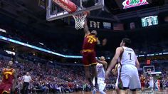 The chemistry of the Cavs keeps improving and we receive the benefit with plays like this JR Smith lob to LeBron James who crushes home the alley-oop.
