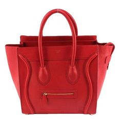 Celine Bag Luggage Mini Tote Red Leather | Polyvore ❤ liked on Polyvore