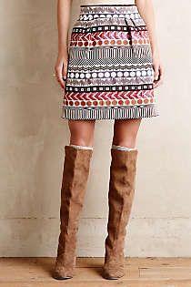 Anthropologie - Glistened Geo Mini Skirt