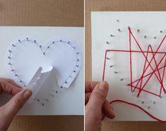 Iets origineels voor Valentijn, Moederdag of Vaderdag knutselen? Maak zelf een cadeau om te zeggen dat je iemand lief vindt. Dit 3D hart maak je van wol en spijkers. En met een beetje timmerhulp kunnen ook kinderen dit zachte spijkerhart knutselen.