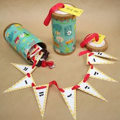 a banner in a can...how cute is this to send instead of a birthday card?