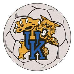 Kentucky Wildcats Soccer Ball Rug