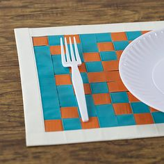 Duck Brand Ducklings Mini Tape Creative Ideas - Woven Placemat