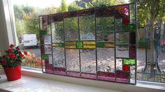 Glas in Lood klassiek paneel van torenbeekglasinlood op Etsy