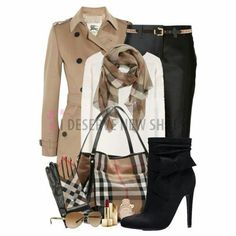 - Burberry Jam A fashion look from January 2015 featuring white cashmere sweater, beige trench coat and cropped capri pants. Browse and shop related looks. Fashion Mode, Look Fashion, Fashion Trends, Fashion Sets, Mode Outfits, Casual Outfits, Fashion Outfits, Fashion Clothes, Mode Chic