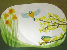Glückwunschkarten - Blaumeisen Im Frühling - ein Designerstück von art4windows bei DaWanda
