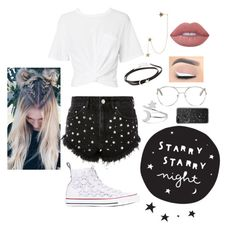 """stars (my style)"" by probablyfracturedoceans ❤ liked on Polyvore featuring Jennifer Zeuner, T By Alexander Wang, Topshop, Zimmermann, Chloé, Converse, Lime Crime, Casetify and StarOutfits"