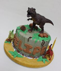 1000+ ideas about T Rex Cake on Pinterest | Dinosaur cake, Volcano ...
