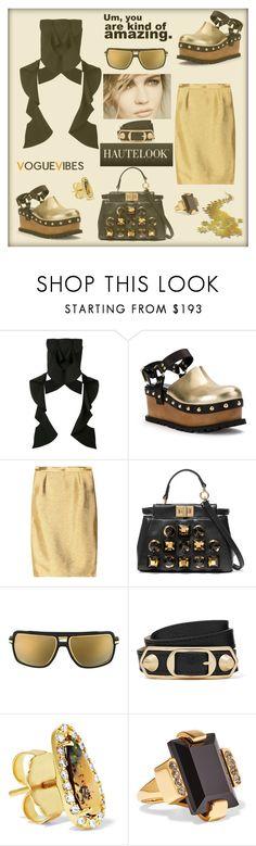 """Vogue Vibes"" by zabead ❤ liked on Polyvore featuring Christian Siriano, Sacai, Fendi, Melissa, Dita, Balenciaga, Kimberly McDonald and Marni"