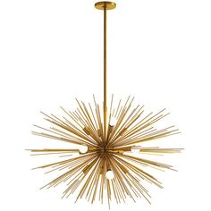 Arteriors Zanadoo Large Gold Chandelier found on Polyvore