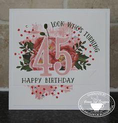 Yvonne is Stampin' & Scrapping: Stampin' Up! Number of years, Birthday Bouquet DSP #stampinup