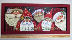 35 Festive Christmas Wall Decor Ideas that will Instantly Get You into the Holiday Spirit - The Trending House Diy Christmas Ornaments, Christmas Art, Christmas Decorations, Christmas Crafts To Make, Xmas, Santa Paintings, Christmas Paintings, Santa Crafts, Tole Painting Patterns