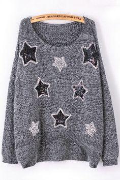 Shiny High-low Heather Sweater OASAP.com