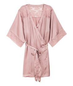 Satijnen kimono | Oudroze | Dames | H&M NL