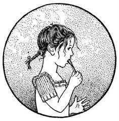 Vintage Clip Art - Boy & Girl Brushing Teeth - The Graphics Fairy bathroom art
