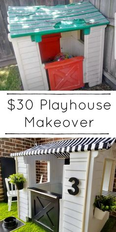 room makeover for kids Unbelievable Playhouse Make - roommakeover Kids Outdoor Play, Kids Play Area, Backyard For Kids, Outdoor Fun, Diy For Kids, Backyard House, Outdoor Play Spaces, Outdoor Toys, Backyard Ideas