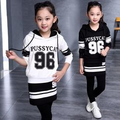 23.99$  Buy now - http://alilhb.shopchina.info/go.php?t=32473951999 - Teenager Girls' Sports Set 2Pcs Pullover Hooded Sweatshirt + Culottes Girls' Spring & Fall Clothing Set 23.99$ #magazineonlinebeautiful