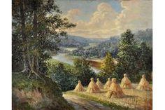 Vinters Edgars (Latvia, 1919-2014), Ainava. Siena laiks, 1950 g., audekls, eļļa, 62.5 x 80 cm