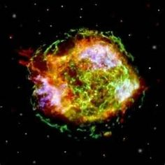 ... aftermath of a supernova explosion that took place four centuries ago