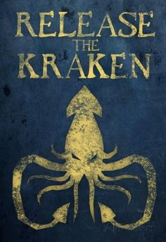Release The Kraken Plastic Sign Wall Signs Plastic Sign - 30 x 46 cm Kraken Art, Release The Kraken, Framed Artwork, Wall Art, Leagues Under The Sea, Kunst Poster, My Pool, Poster Prints, Art Prints